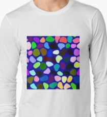 Irregularly colored shapes at random Long Sleeve T-Shirt