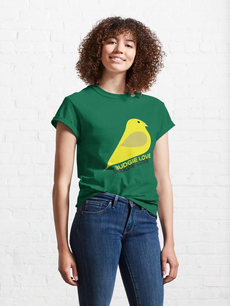 Alternate view of Budgie Love Classic T-Shirt