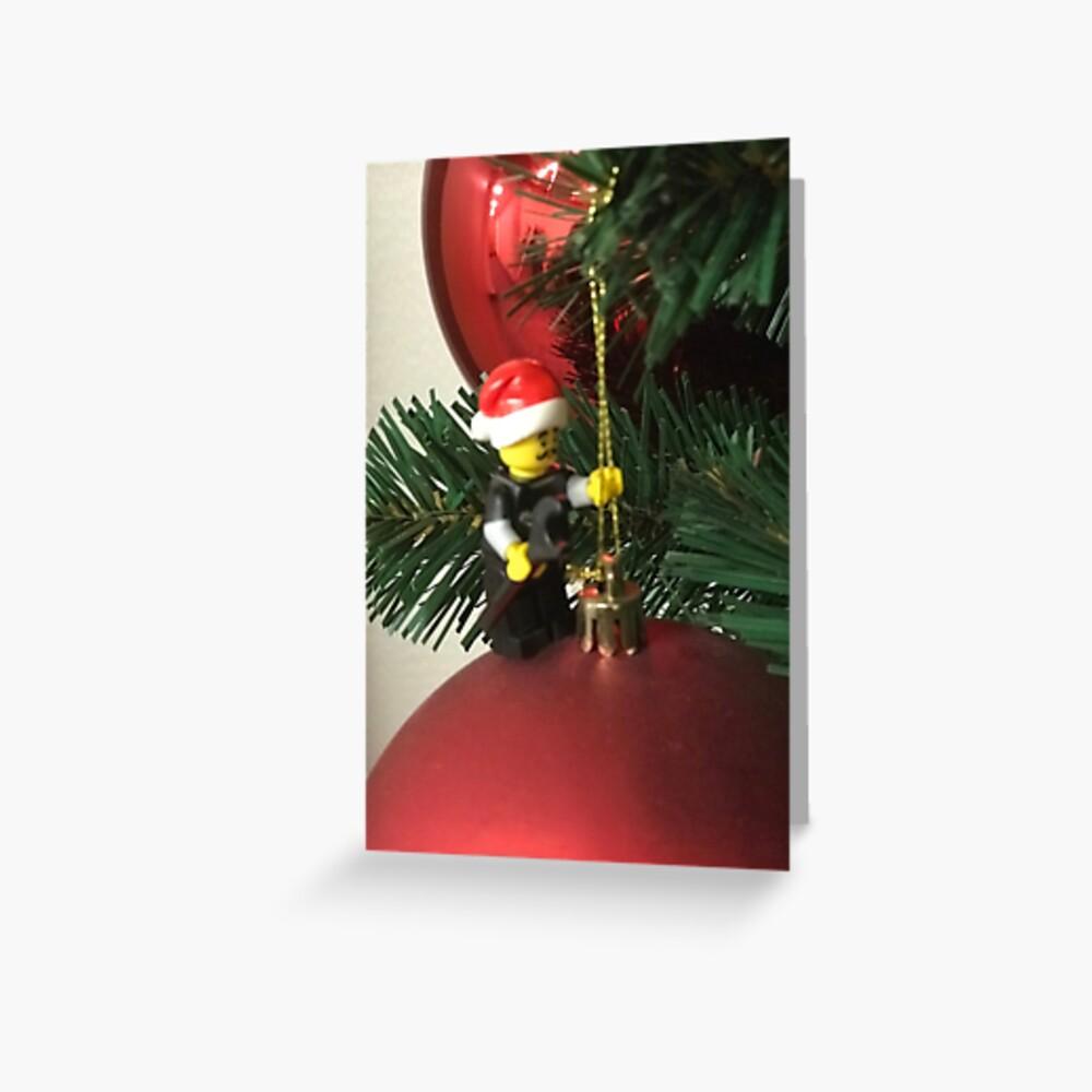 Christmas Lego Man #2 Greeting Card