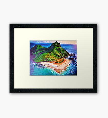 Mokulua Island - Lanikai Framed Print