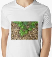 Hops and Malt Mens V-Neck T-Shirt