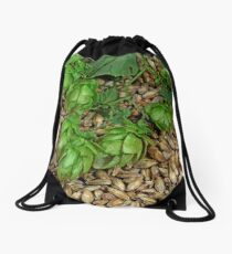 Hops and Malt Drawstring Bag