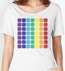 Vertical Rainbow Square - Light Background Women's Relaxed Fit T-Shirt