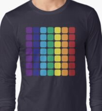 Vertical Rainbow Square - Dark Background T-Shirt
