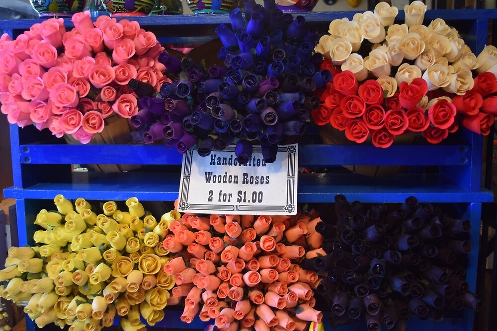 Wooden Roses 2 for $1 by Willcav