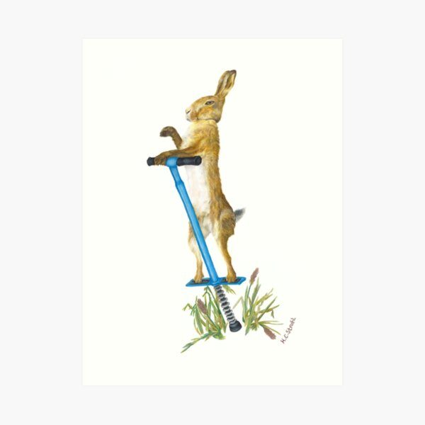 Hare on the Up Art Print