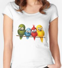 Cute overload - Birds Women's Fitted Scoop T-Shirt
