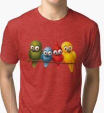 Cute overload - Birds Tri-blend T-Shirt