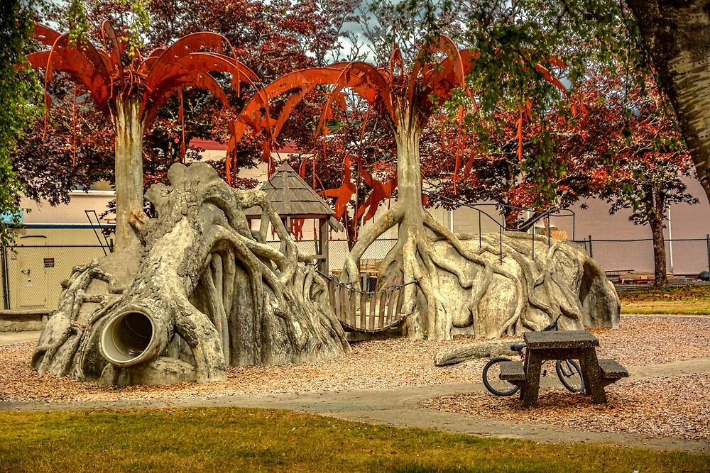 The Fifth Street Park Playground by Bryan Spellman
