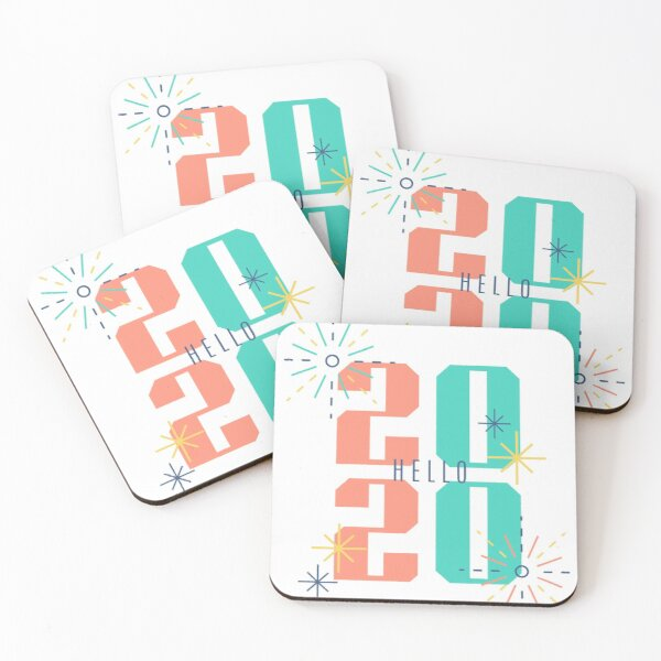 2020 goals shirt Coasters (Set of 4)