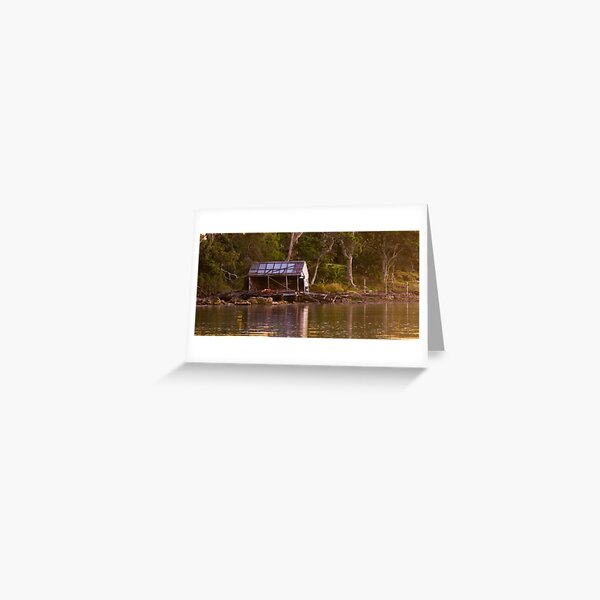 Old Boat Shed Greeting Card