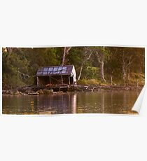 Old Boat Shed Poster