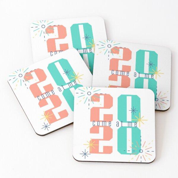 2020 goals shirt - come at me Coasters (Set of 4)