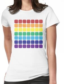 Rainbow Square - Light Background Womens Fitted T-Shirt