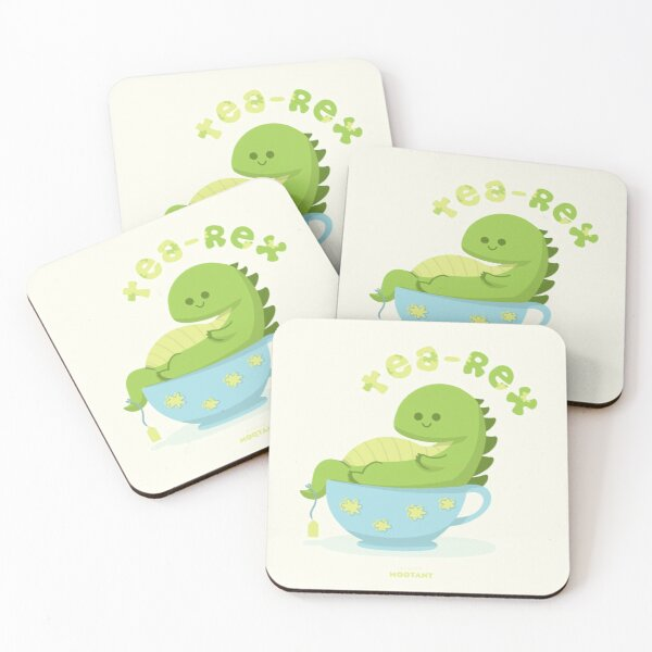 Tea-Rex Coasters (Set of 4)