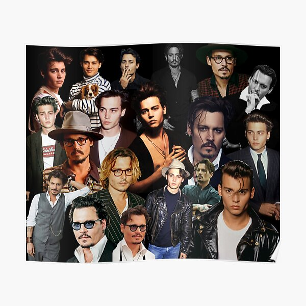 Johnny Depp Sexy Collage Poster