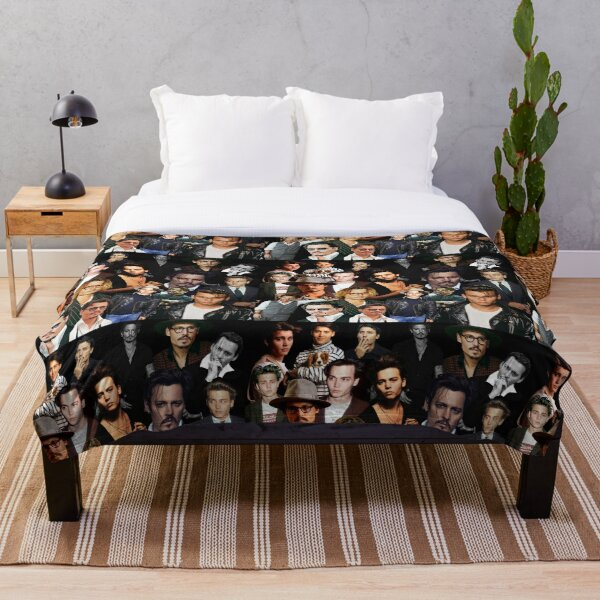 Johnny Depp Sexy Collage  Throw Blanket
