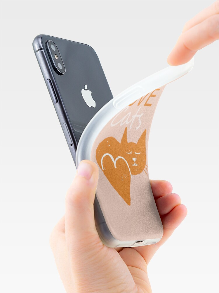 Alternate view of Love cats iPhone Case & Cover