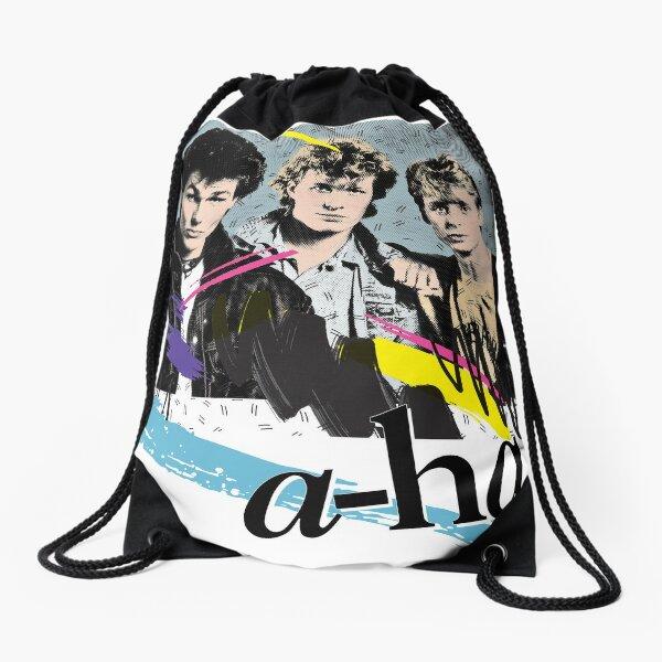 Original Vintage Styled 80s A-Ha Design Drawstring Bag
