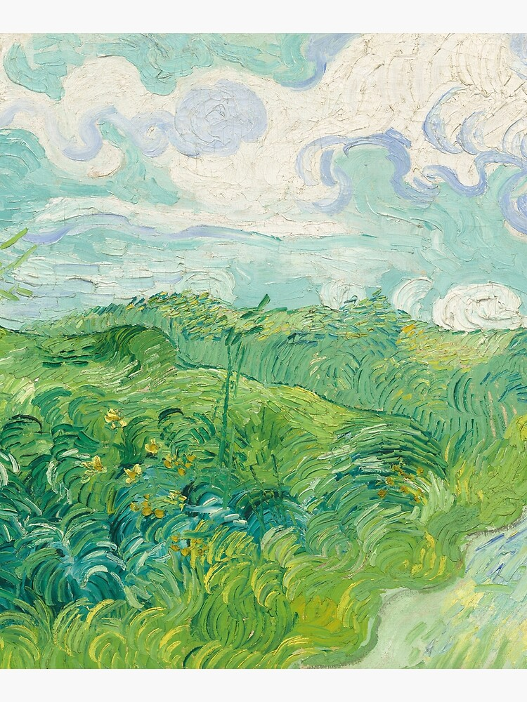 Vincent van Gogh Green Wheat Fields, Auvers 1890 Painting by podartist
