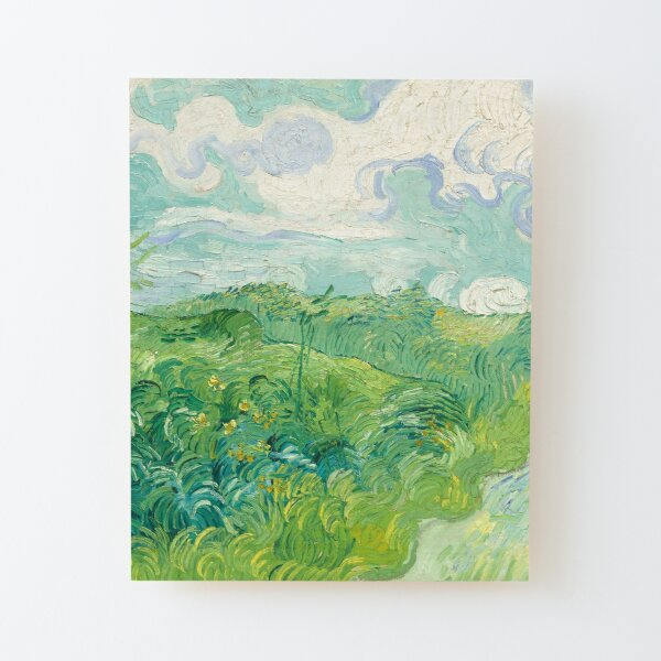 Vincent van Gogh Green Wheat Fields, Auvers 1890 Painting Wood Mounted Print