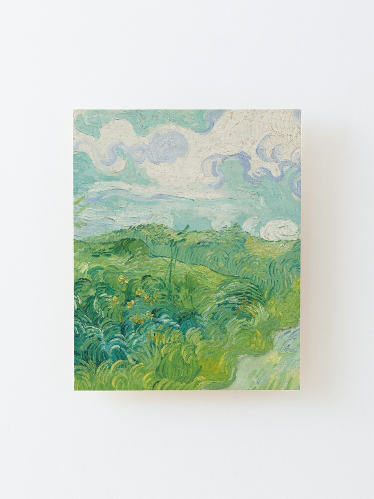 Alternate view of Vincent van Gogh Green Wheat Fields, Auvers 1890 Painting Mounted Print