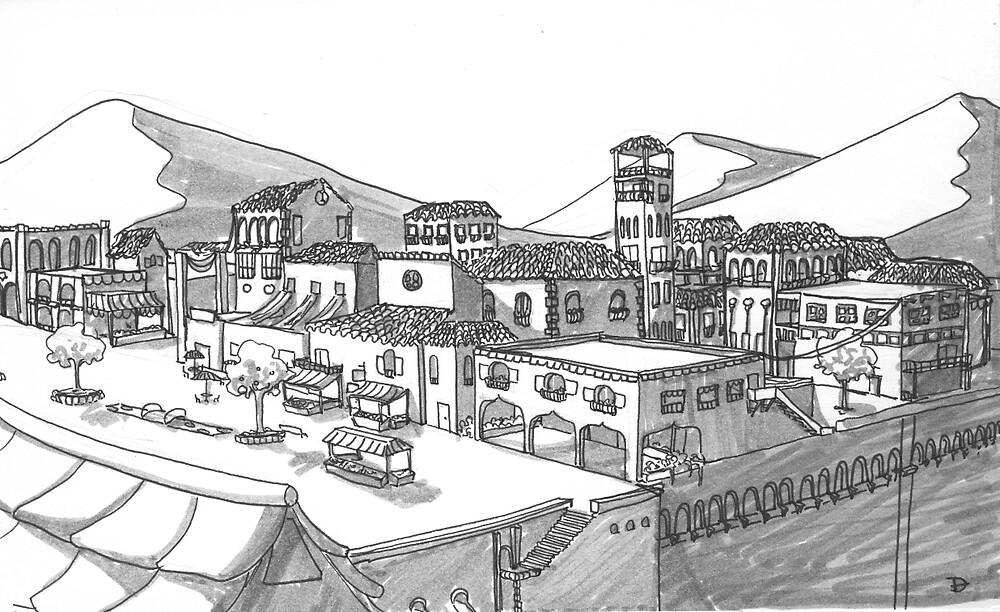 Town by Alena Delena