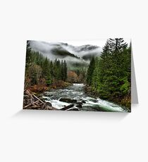 Winters Joy ~ Quartzville Creek Winter ~ Greeting Card