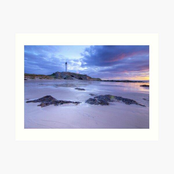 Covesea Lighthouse Sunset Art Print