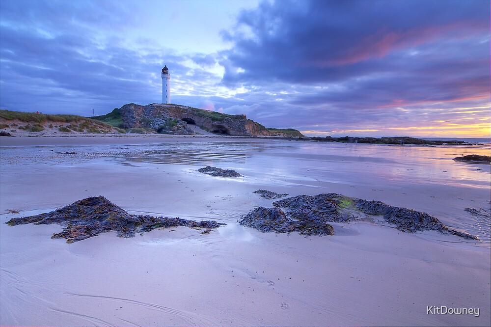 Covesea Lighthouse Sunset by KitDowney