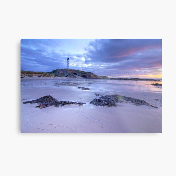 Covesea Lighthouse Sunset Metal Print