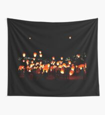 Let The Lights Fly High Wall Tapestry