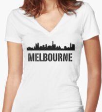 Higher Melbourne Women's Fitted V-Neck T-Shirt