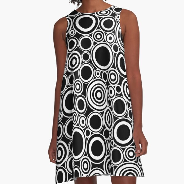 Circles All Over Me A-Line Dress