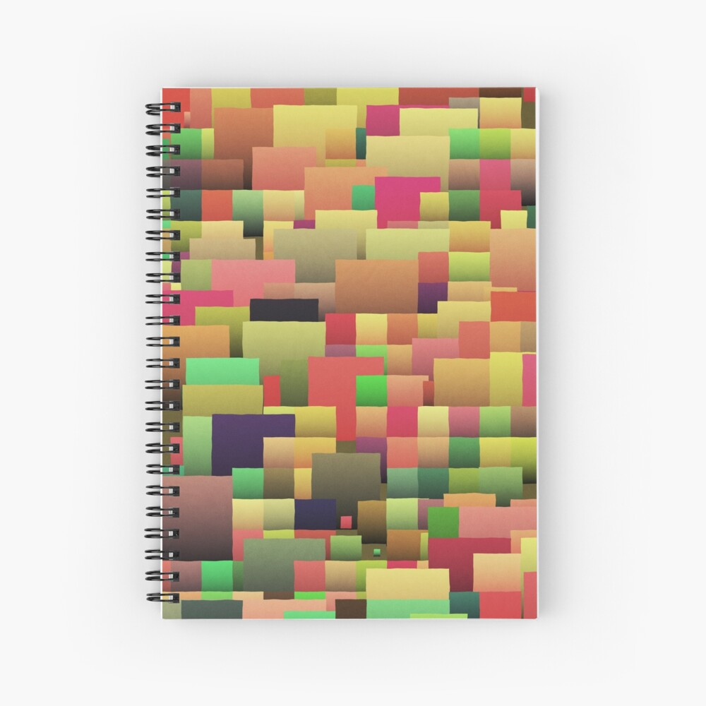 Decorative geometric shapes,abstract design Spiral Notebook