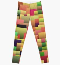 Decorative geometric shapes,abstract design Leggings