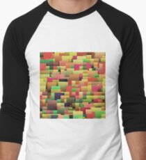 Decorative geometric shapes,abstract design Baseball ¾ Sleeve T-Shirt
