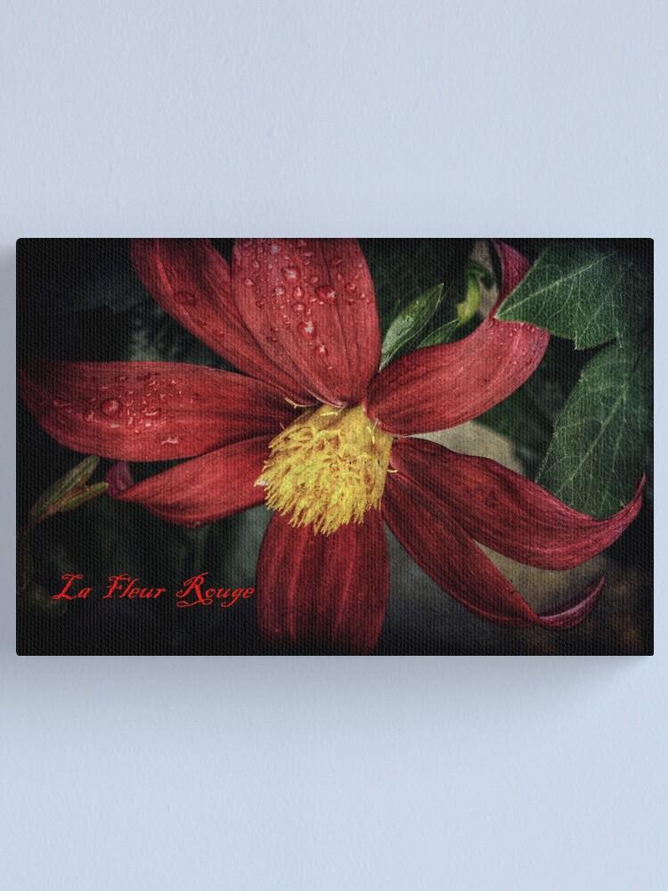 Alternate view of La Fleur Rouge Canvas Print