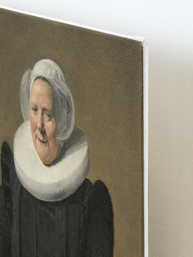 Alternate view of Portrait of an Elderly Oil Painting Lady by Frans Hals Mounted Print
