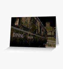Downpatrick Dining Saloon Car Greeting Card