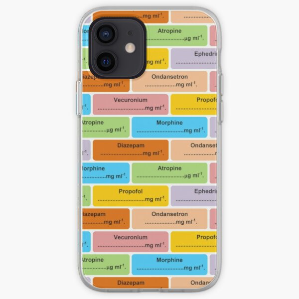 Gift for Anaesthetist / Anesthetist / Anesthesiologist Drug Label Pattern iPhone Soft Case