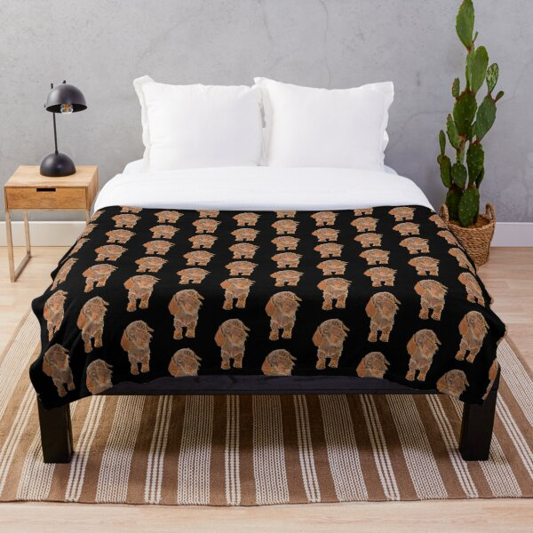 Brown Wire-Haired Dachshund Throw Blanket