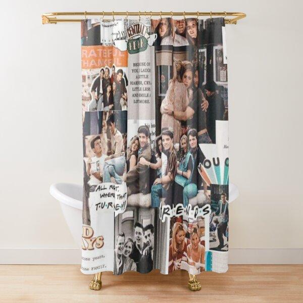 friends wallpaper Shower Curtain
