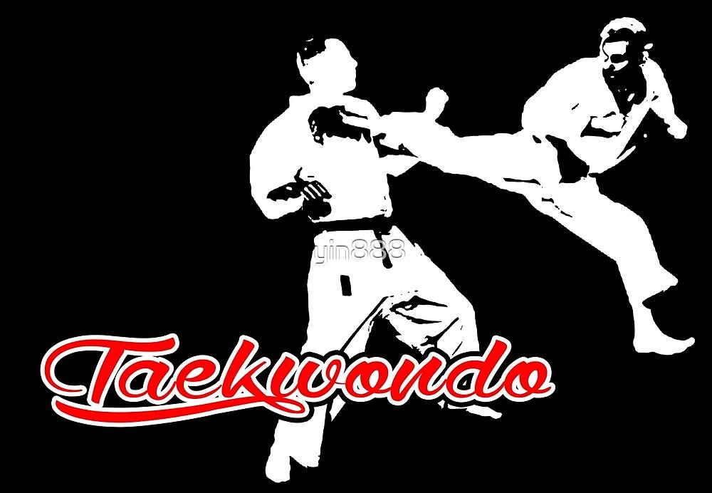 Taekwondo Jumping Back Kick Black by yin888