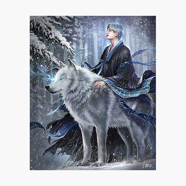 Namjoon- Mythical wolf Photographic Print
