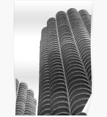 Marina Towers in abstract Poster