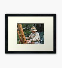 Portrait Of An Artist Framed Print