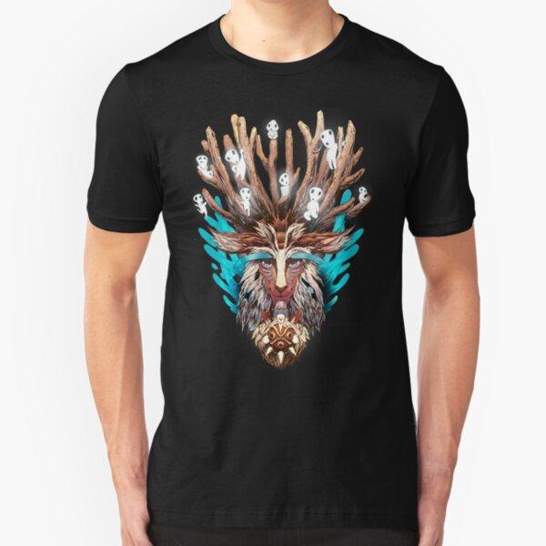 Mononoke Forest Spirit Kodama Miyazaki Slim Fit T-Shirt