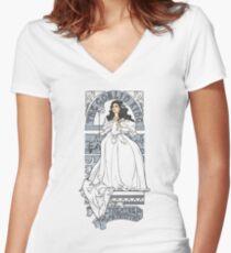 Theatre de la Labyrinth shirt v2 Women's Fitted V-Neck T-Shirt
