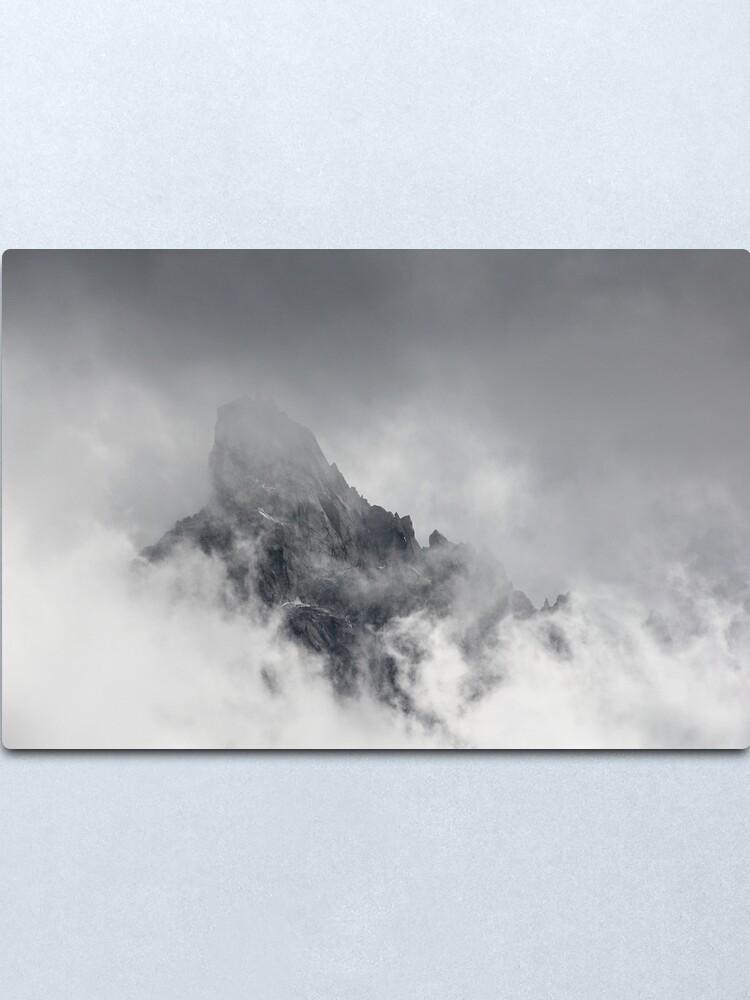 Alternate view of Mountain peak Metal Print
